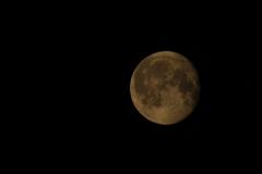 Moon over Isle of Vilm, Germany
