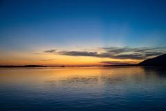 Sunset over the Lower Zambezi National Park, Zambia